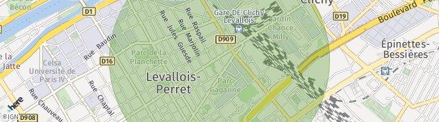 Carte de Levallois-Perret