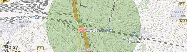 Carte de Bondy