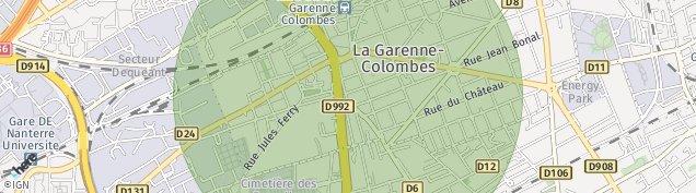 Carte de La Garenne-Colombes