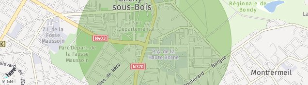 Carte de Clichy-sous-Bois