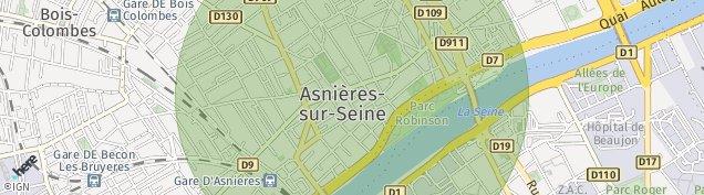 Carte de Asnières-sur-Seine