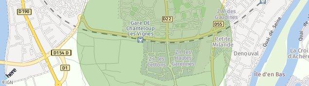 Carte de Chanteloup-les-Vignes
