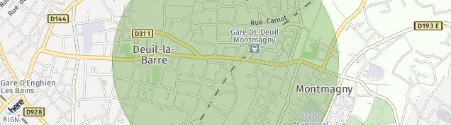 Carte de Deuil-la-Barre