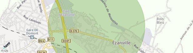 Carte de Ézanville