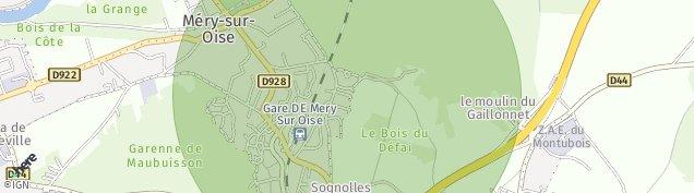 Carte de Méry-sur-Oise