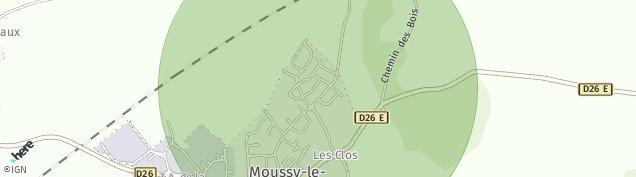 Carte de Moussy-le-Neuf