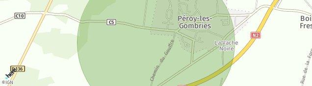 Carte de Péroy-les-Gombries