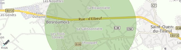 Carte de Saint-Ouen-du-Tilleul