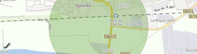 Carte de Igoville
