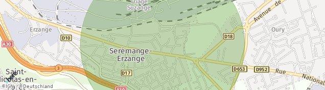 Carte de Serémange-Erzange
