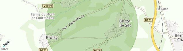 Carte de Berzy-le-Sec