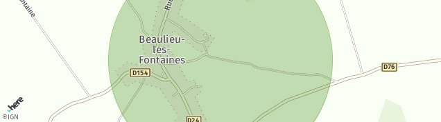 Carte de Beaulieu-les-Fontaines