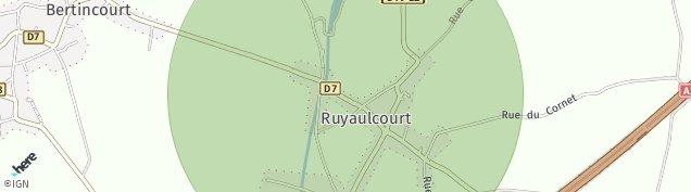 Carte de Ruyaulcourt