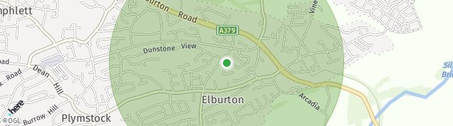 Map of Elburton