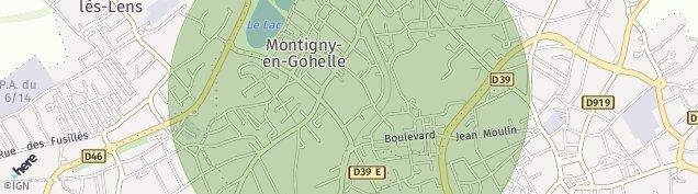 Carte de Montigny-en-Gohelle