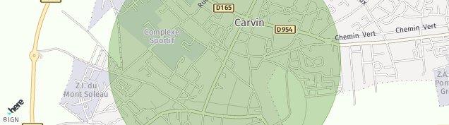 Carte de Carvin