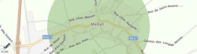 Map of Mellet