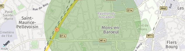 Carte de Mons-en-Barœul