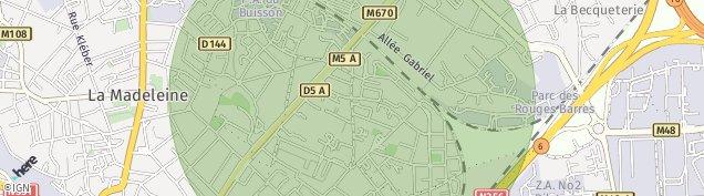 Carte de Marcq-en-Barœul