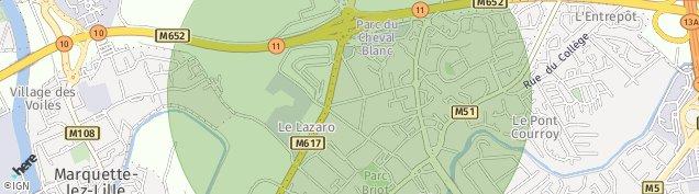 Carte de Marquette-lez-Lille
