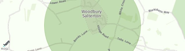 Map of Woodbury Salterton