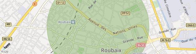 Carte de Roubaix