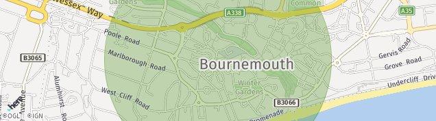 Map of Bournemouth