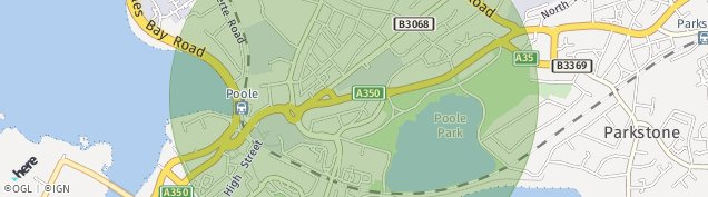 Map of Poole