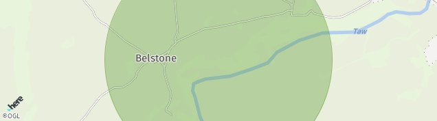 Map of Belstone