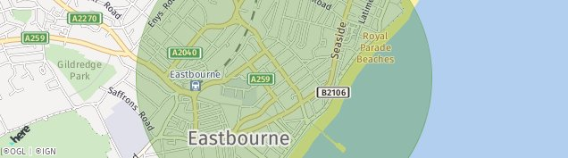 Map of Eastbourne