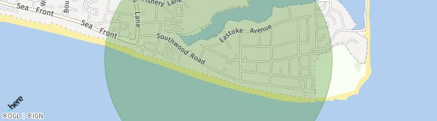 Map of Hayling Island
