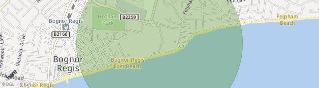 Map of Bognor Regis