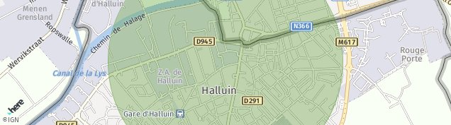 Carte de Halluin