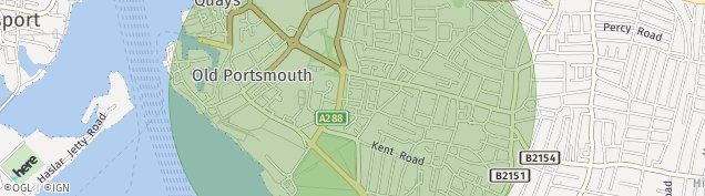 Map of Southsea