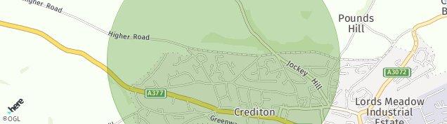 Map of Crediton