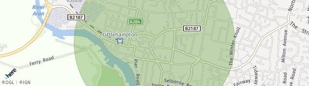 Map of Littlehampton