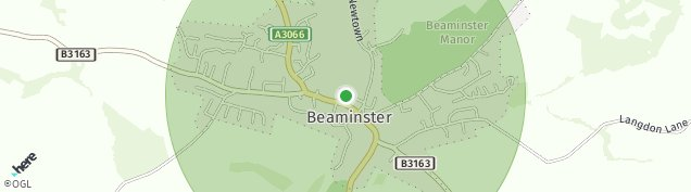 Map of Beaminster