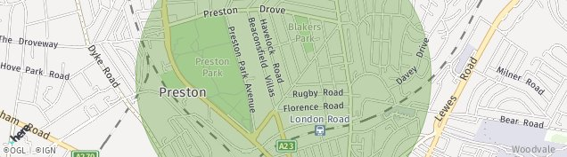 Map of Hove