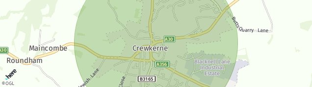 Map of Crewkerne