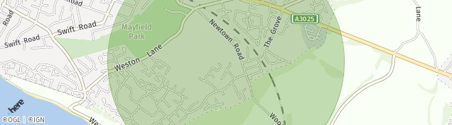 Map of Southampton