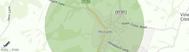 Map of Horam