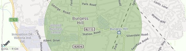 Map of Burgess Hill