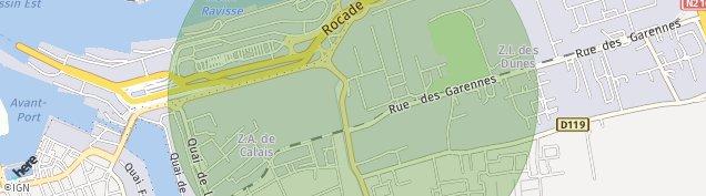 Carte de Calais