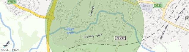 Map of Horsham