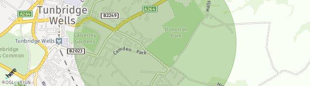 Map of Tunbridge Wells