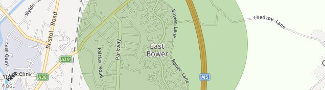 Map of Bridgwater