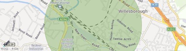 Map of Willesborough