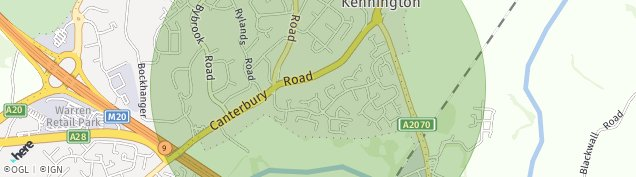 Map of Kennington