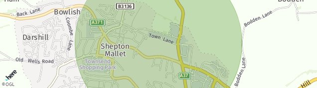 Map of Shepton Mallet