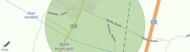 Map of West Huntspill